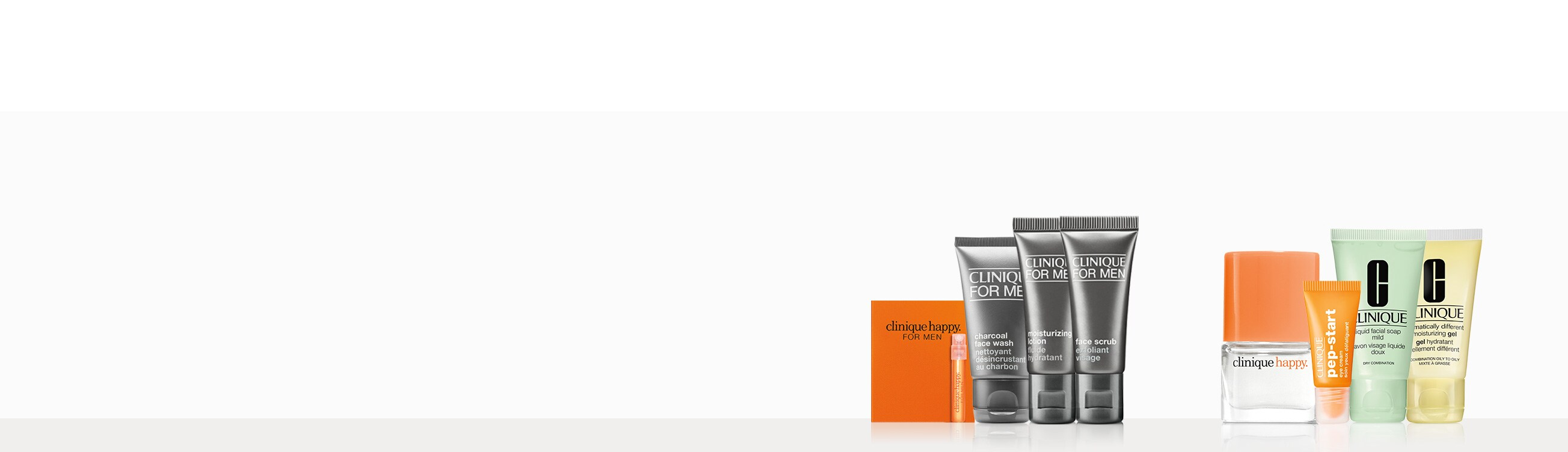 Make skin happy. Free His or Hers kits.