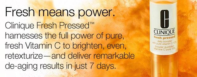 ผลการค้นหารูปภาพสำหรับ Fresh Pressed Daily Booster with Pure Vitamin C 10%